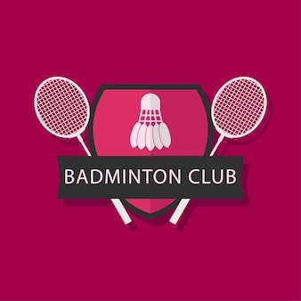 Шаблон логотипа клуба badminton