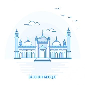 Badshahi mosque blue landmark