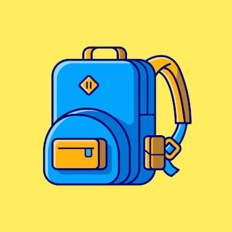 Bag backpack cartoon