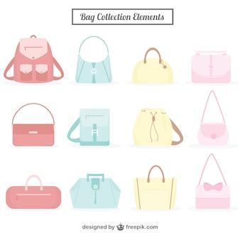 Коллекция сумка в пастельных тонах