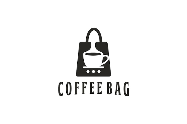 Bag design logo and coffee blend in the bag