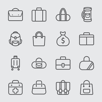 가방 라인 아이콘