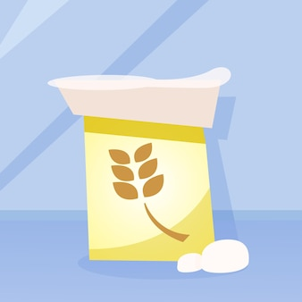 小麦粉の袋 Premiumベクター