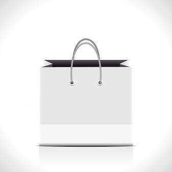 白い背景の上のバッグ。