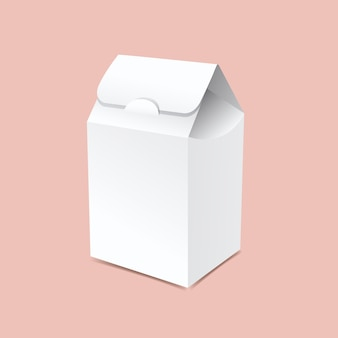 Макет коробки для упаковки мешков
