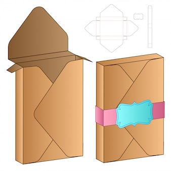 Bag packaging die cut template design