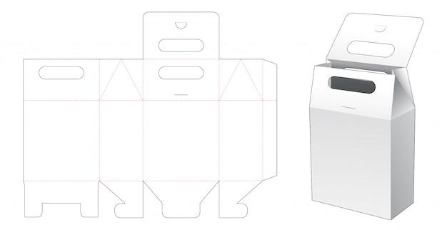 Bag packaging window die cut template