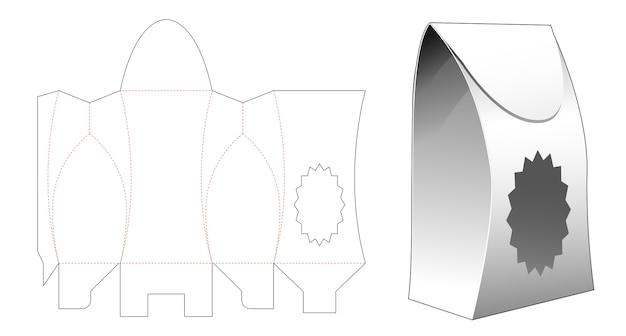 Пакетная упаковка с высеченным шаблоном с многосторонним звездным окном