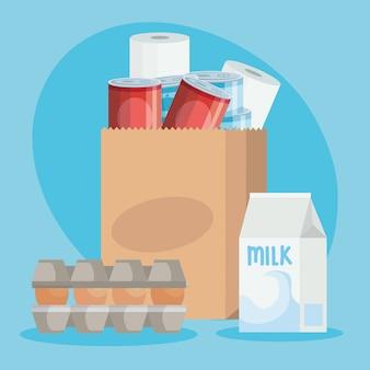 Сумка бумажная с продуктами