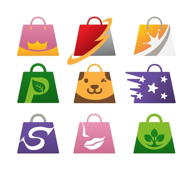 Шаблон логотипа магазина сумок