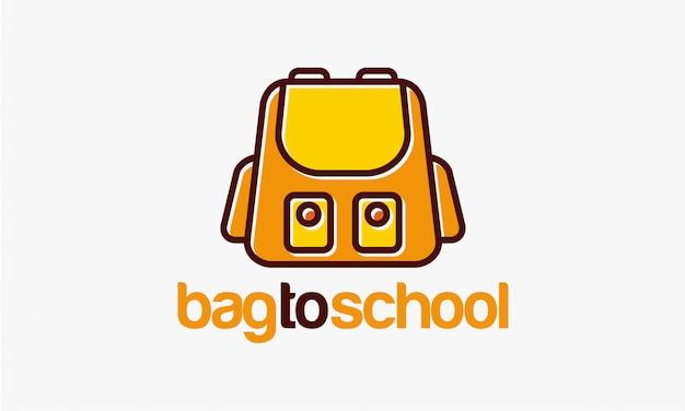 Шаблон дизайна логотипа bag to school