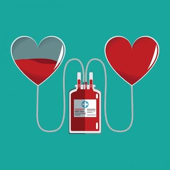 バッグ輸血心臓の血液