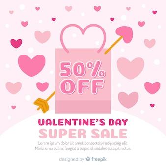 Bag valentine sale background