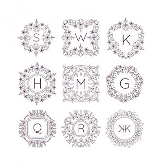 Вензель bage логотип вектор