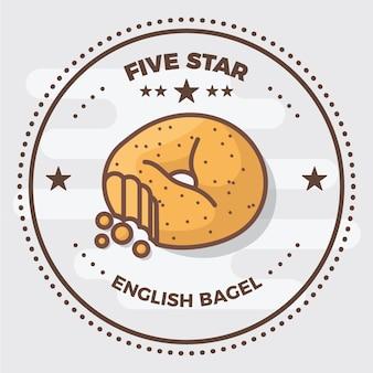 Значок логотипа bagel