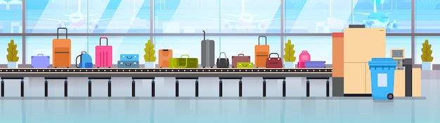 Baggage carousel in airport