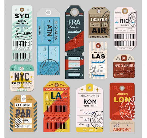 Baggage tag set