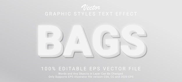 Bags 3d text style effect