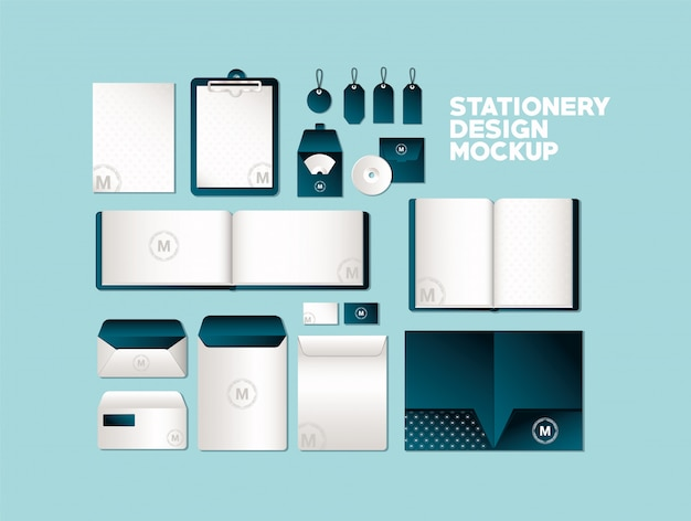 コーポレートアイデンティティとステーショナリーデザインをテーマにしたダークグリーンのブランドが入ったバッグとマグのモックアップ