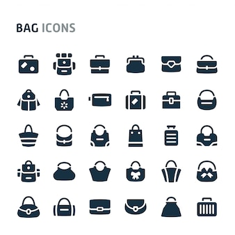 Bags icon set. fillio black icon series.