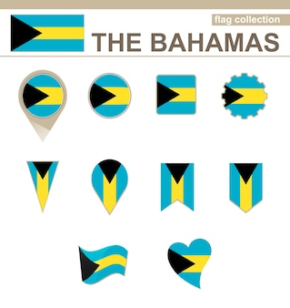 The bahamas flag collection, 12 versions