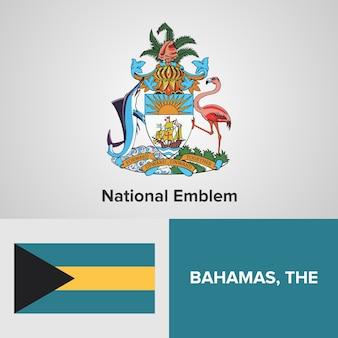 The bahamas national emblem and flag