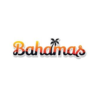 Bahamas summer holidays beach sign symbol vector art