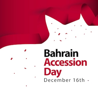 Bahrain accession day vector template design illustration