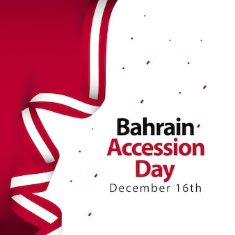 Bahrain accession day vector template design illustration