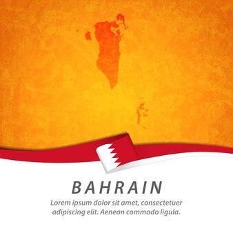 중앙지도와 바레인 깃발