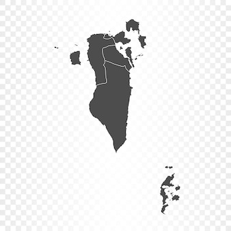 Bahrain map isolated on transparent