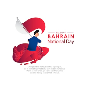 Bahrain national day vector template. design illustration for banner, advertising, greeting cards or print.