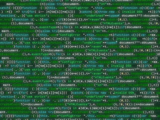カラフルなbakcgroundをきらめくプログラムコード。