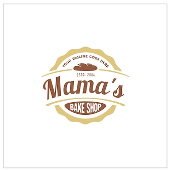Bake shop label sticker logo