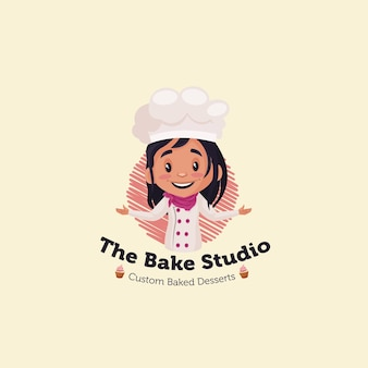 The bake studio   mascot logo template
