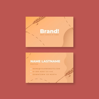 Baked cookies business card template