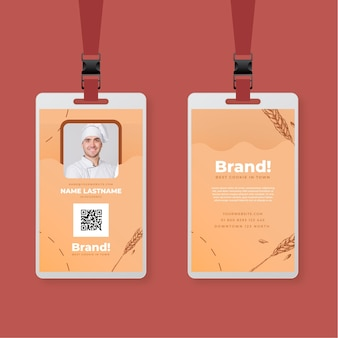 Baked cookies id card template