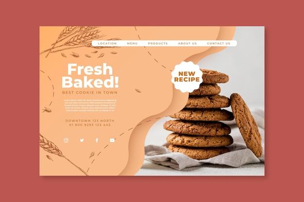Pagina di destinazione dei biscotti al forno