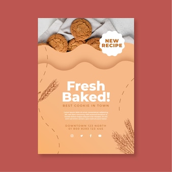 Baked cookies poster template