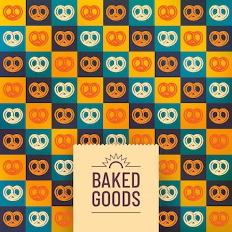 Baked goods background