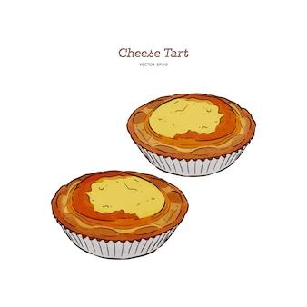 Baked mini  cheese tart