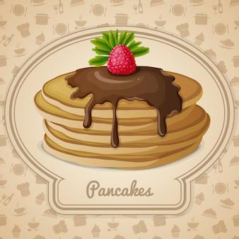 Baked pancakes illustration