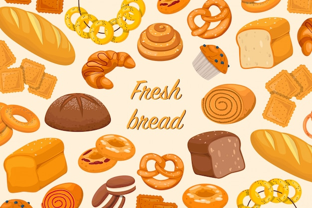 Baked products illustration