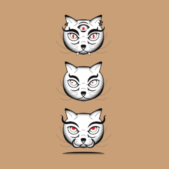 Elemento giapponese del gatto del mostro di bakeneko