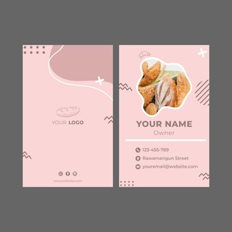 Bakery ad business card template