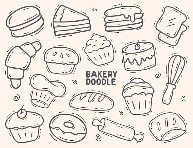 Пекарня и торт каракули элемент