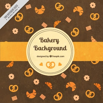 Bakery background with pretzels