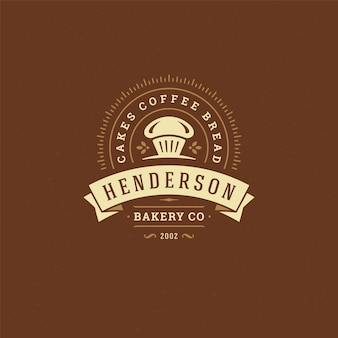 Bakery badge or label retro illustration