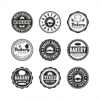 Bakery badge logos stamp collections