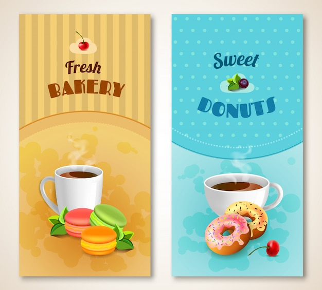 Bakery banner set